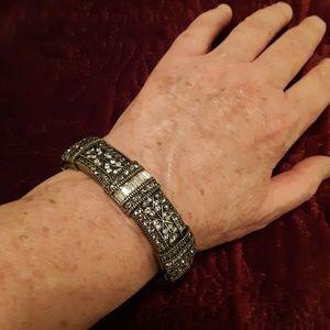 Crystal Bangle Bracelet (15mm)